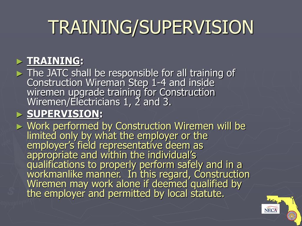 TRAINING/SUPERVISION