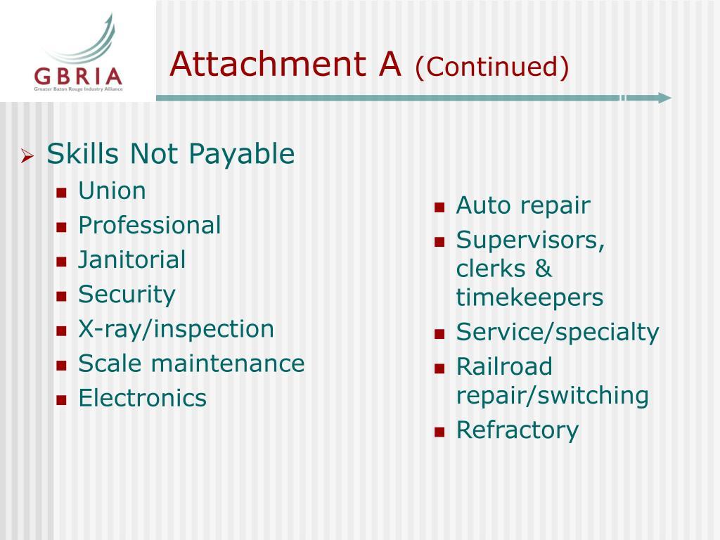 Skills Not Payable