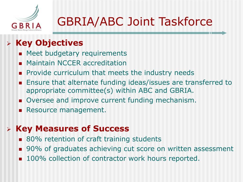 GBRIA/ABC Joint Taskforce
