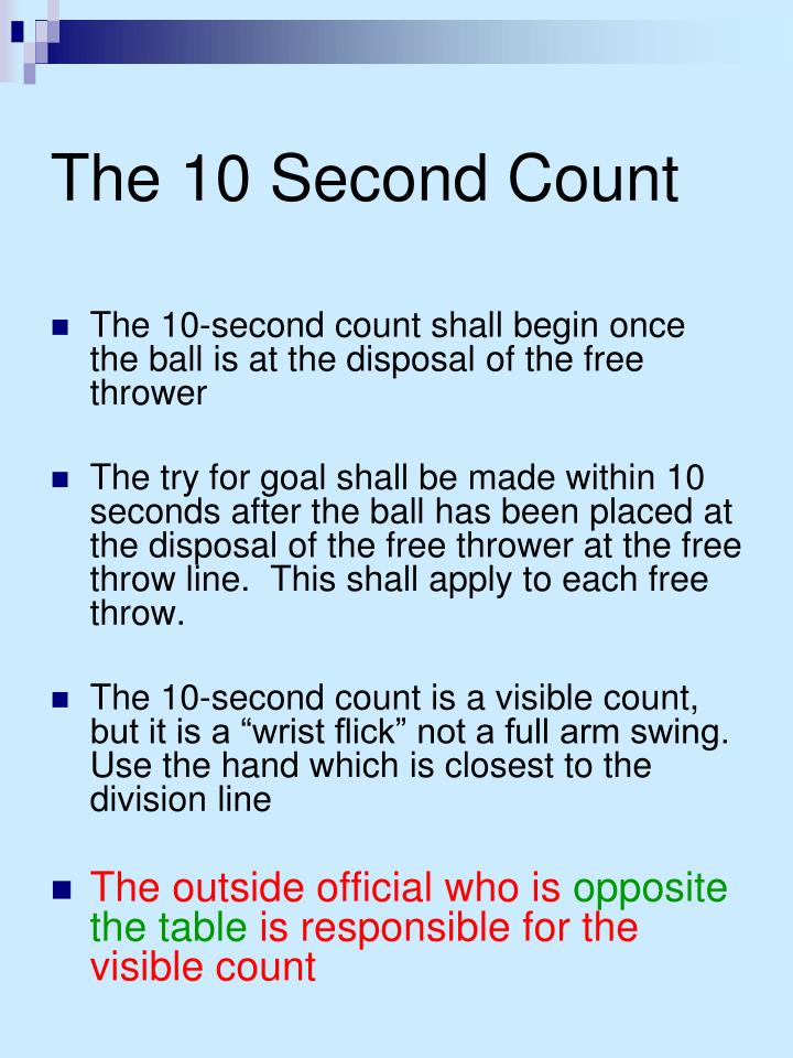 The 10 Second Count