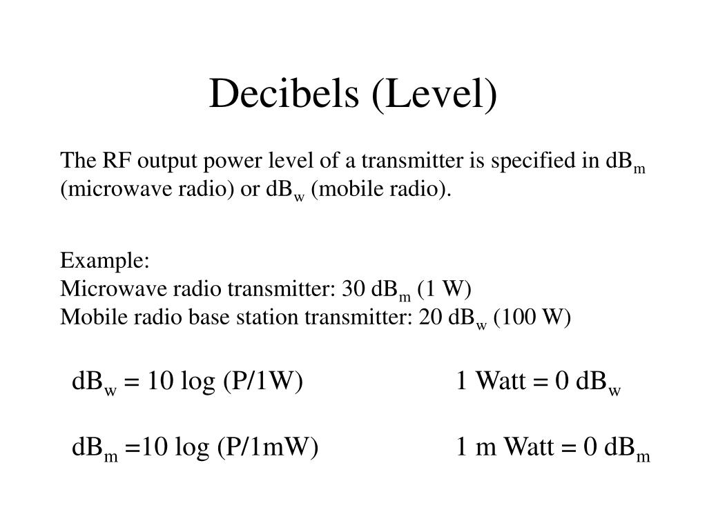 Decibels (Level)