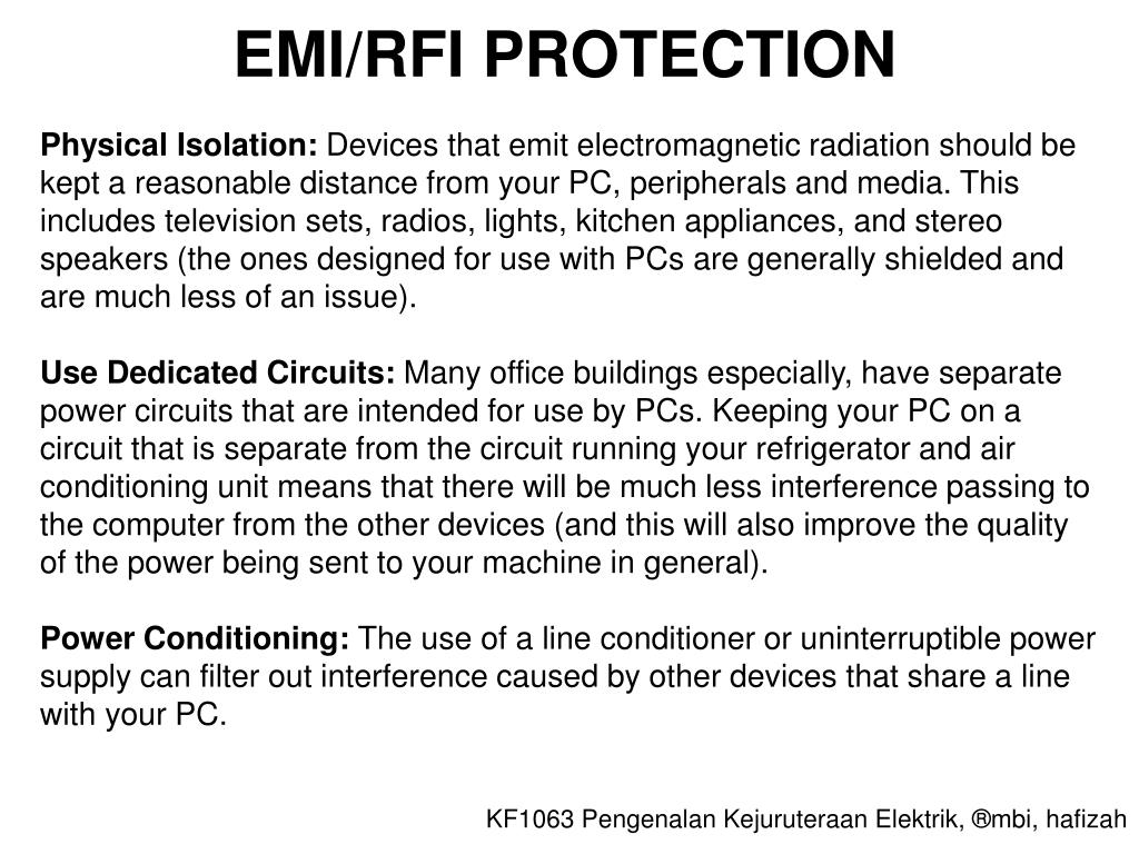 EMI/RFI PROTECTION