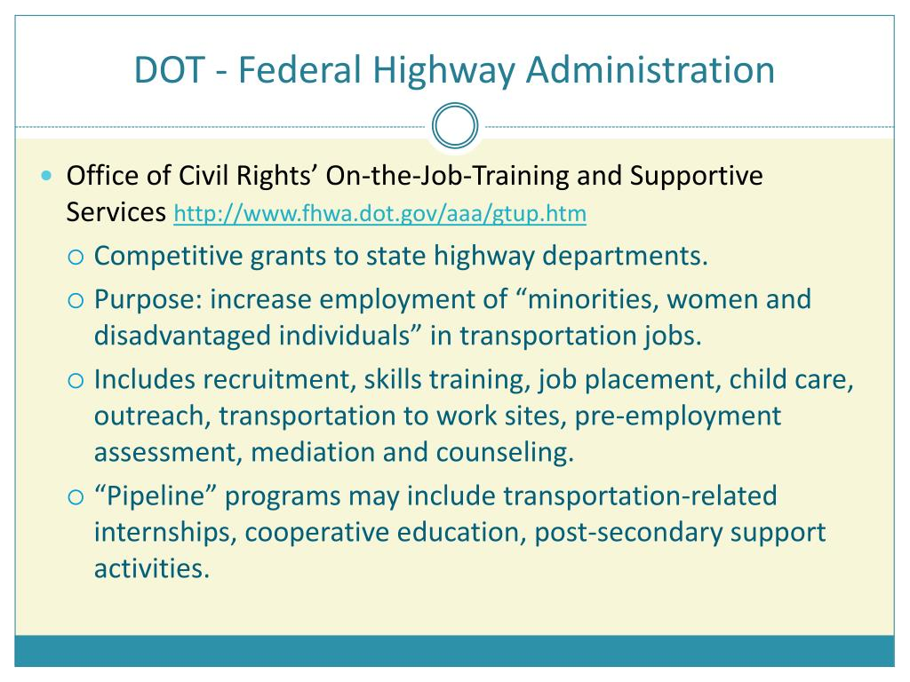 DOT - Federal Highway Administration