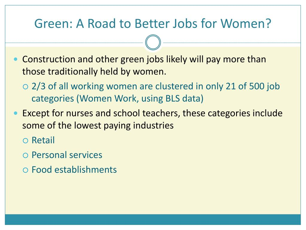 Green: A Road to Better Jobs for Women?