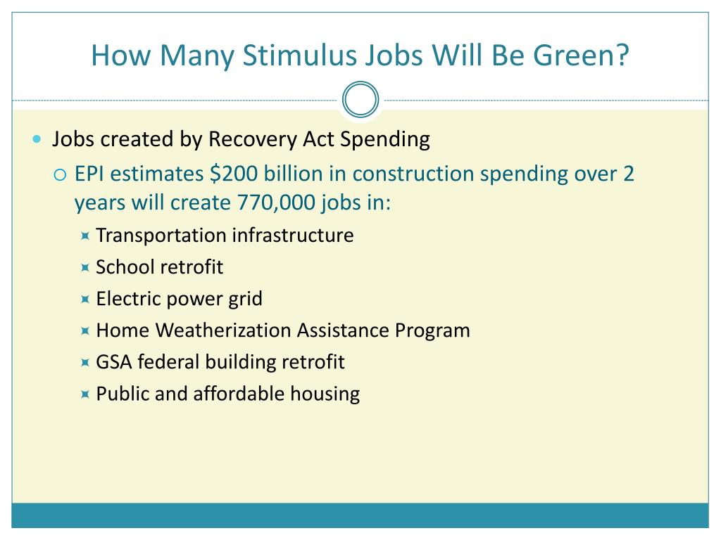 How Many Stimulus Jobs Will Be Green?