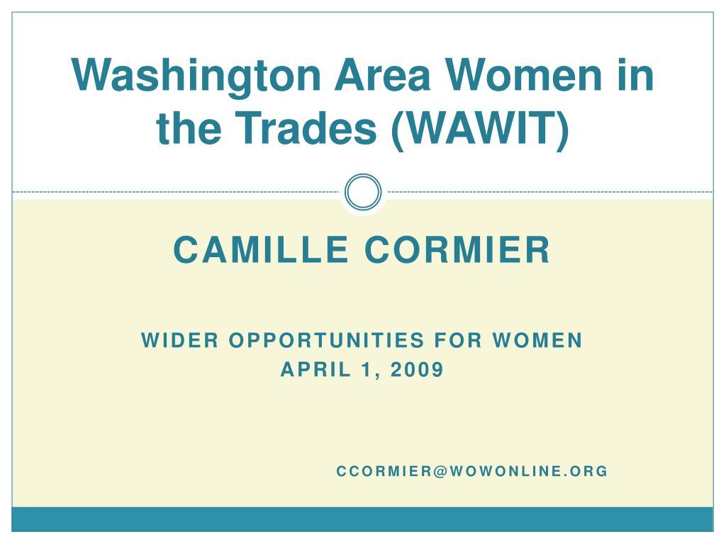 Washington Area Women in the Trades (WAWIT)