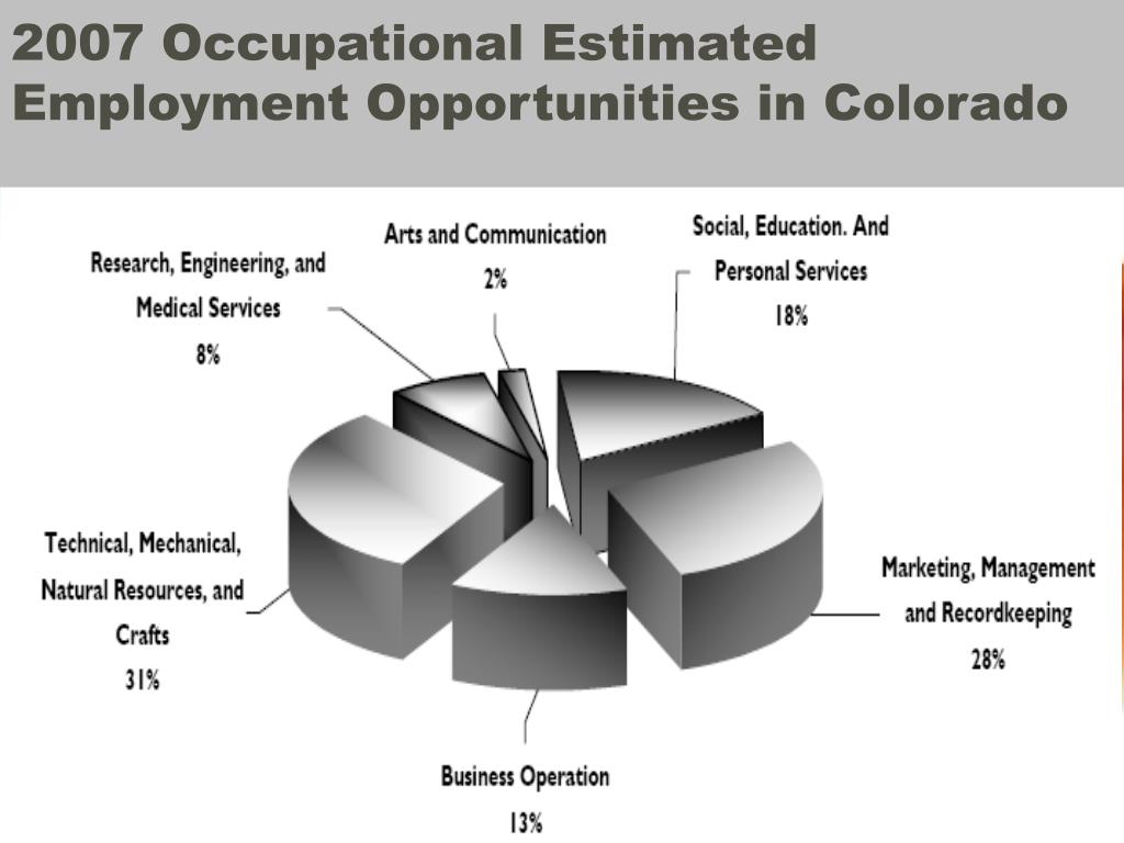 2007 Occupational Estimated Employment Opportunities in Colorado