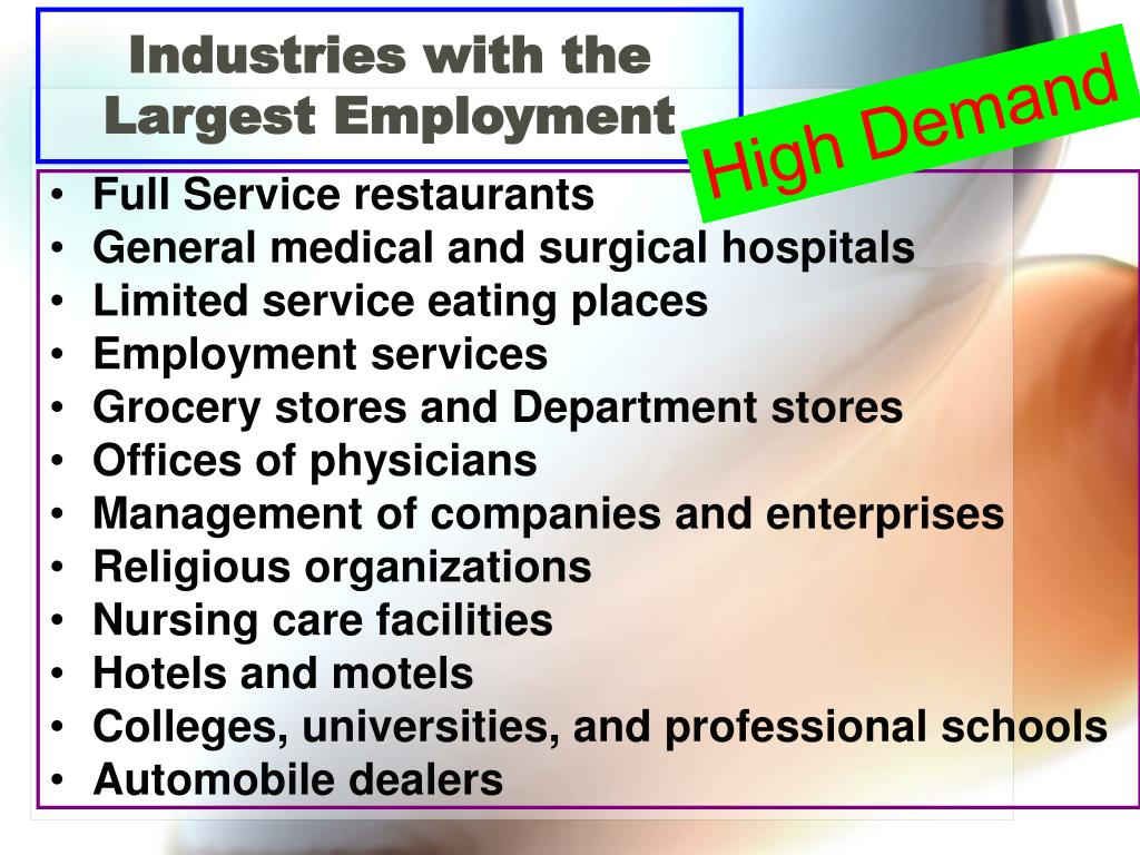 Industries with the Largest Employment