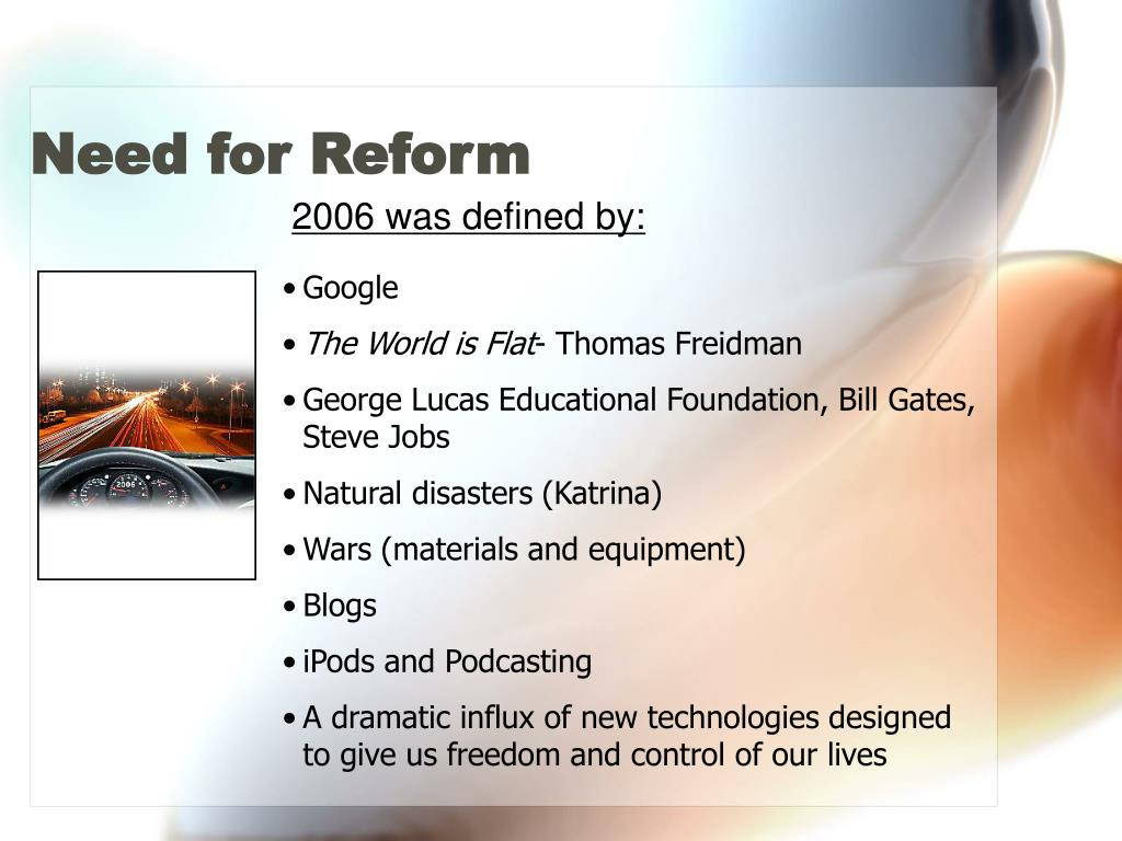 Need for Reform