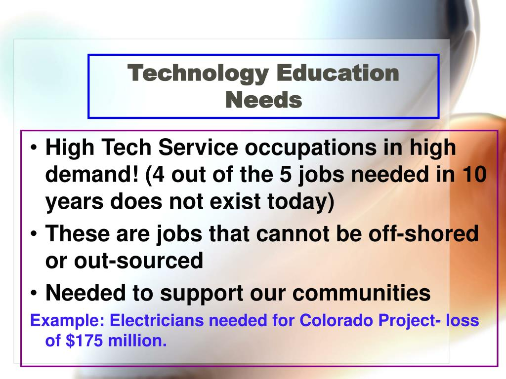 Technology Education  Needs