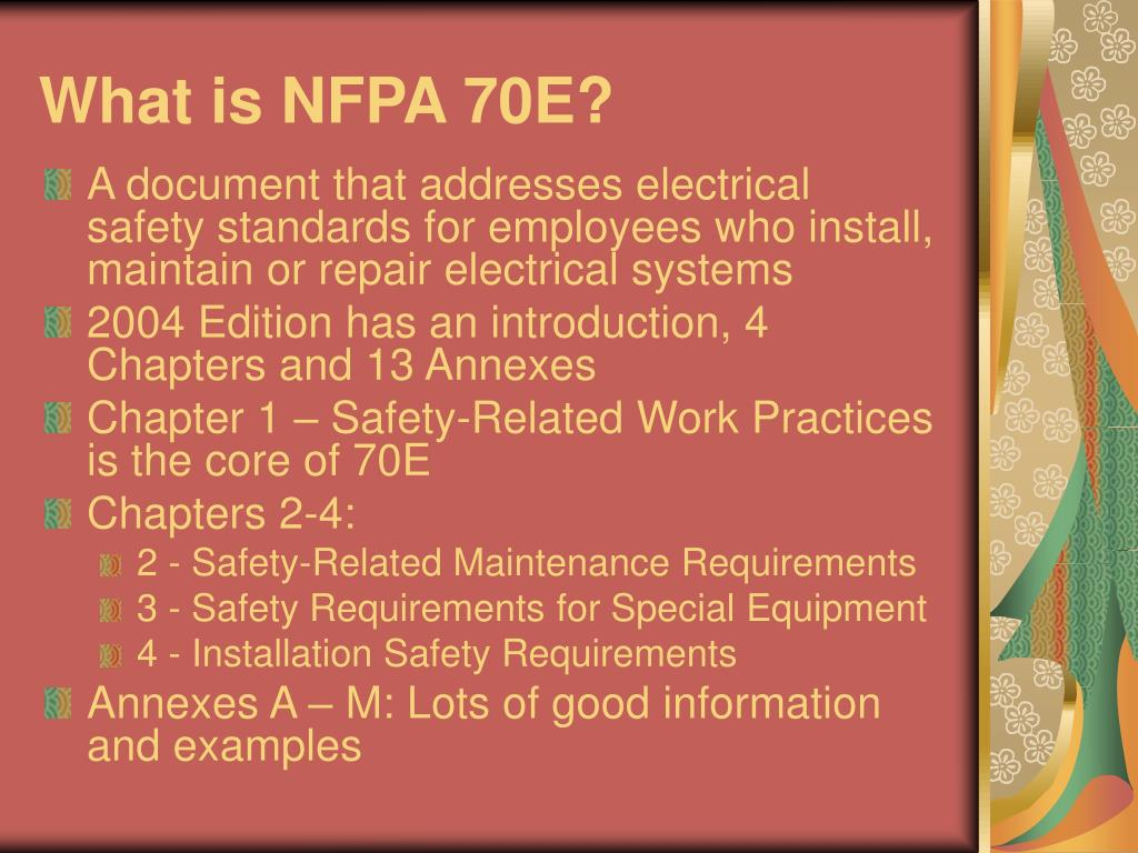 What is NFPA 70E?