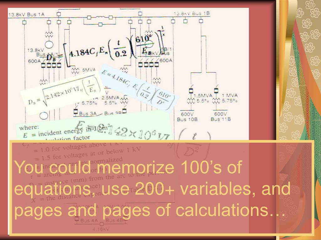 You could memorize 100's of equations, use 200+ variables, and pages and pages of calculations…