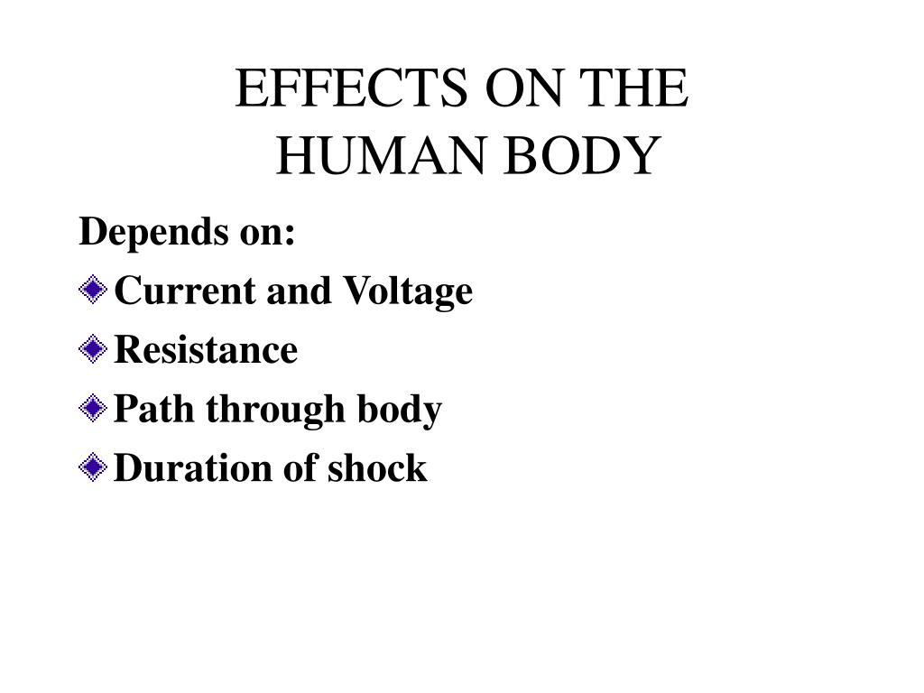 EFFECTS ON THE