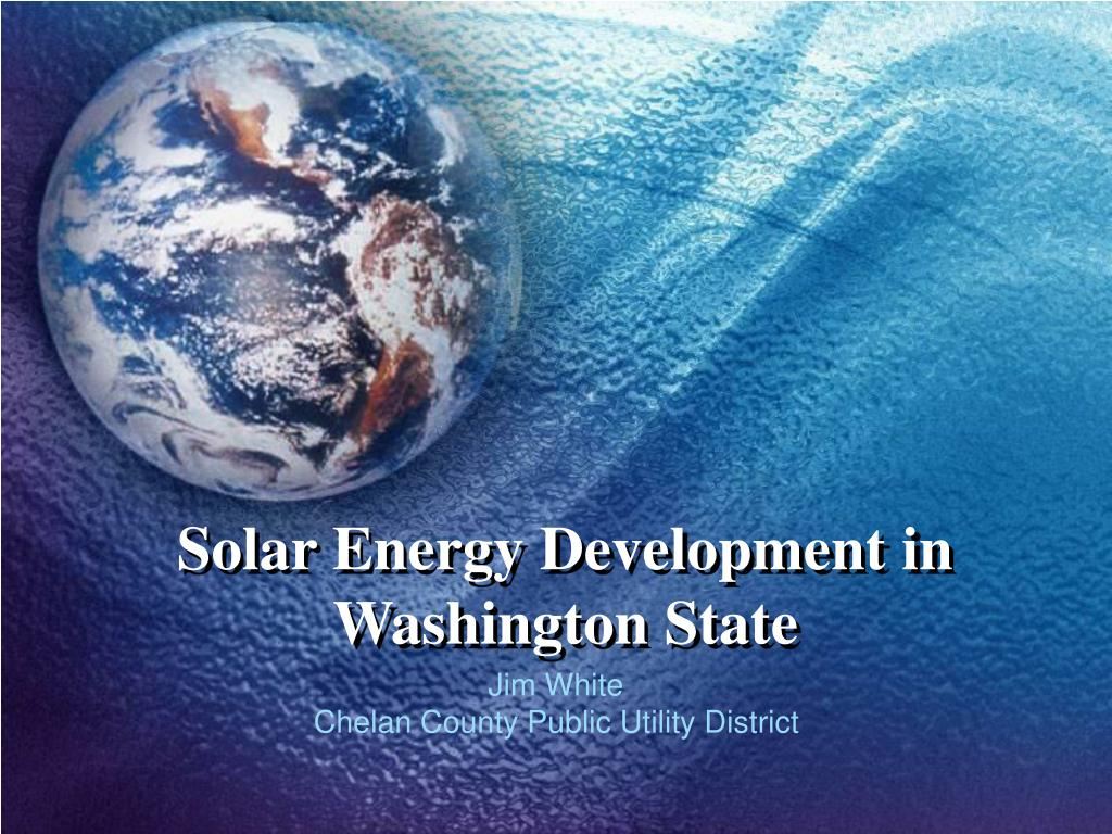 Solar Energy Development in Washington State