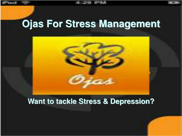 Want to tackle stress depression