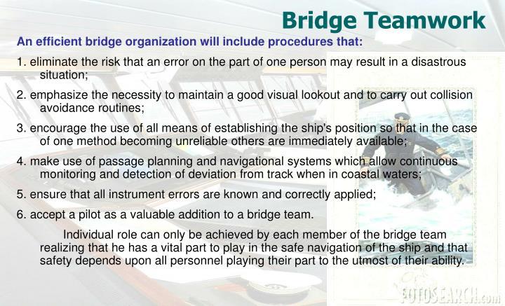 Bridge Teamwork