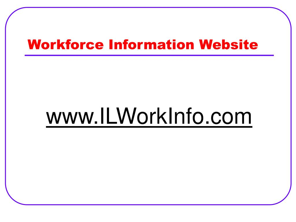 Workforce Information Website