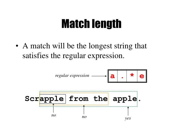 Match length