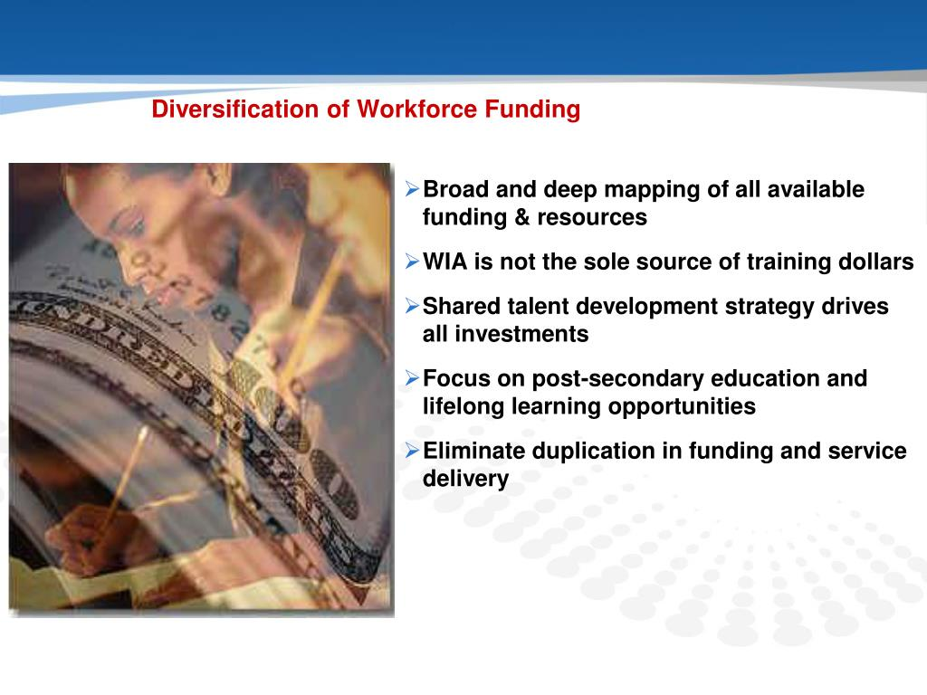 Diversification of Workforce Funding