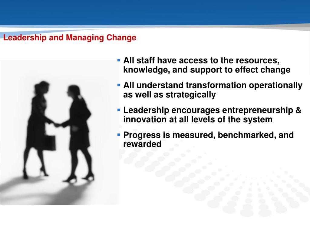 Leadership and Managing Change
