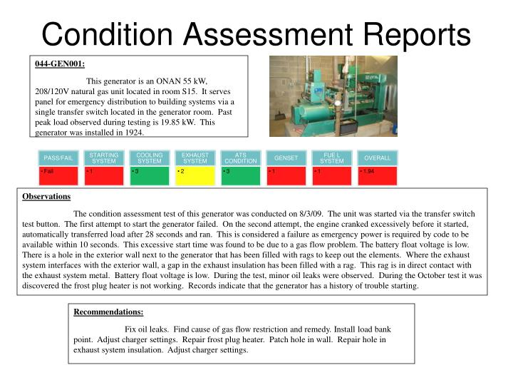 Condition assessment reports l.jpg