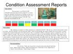 condition assessment reports