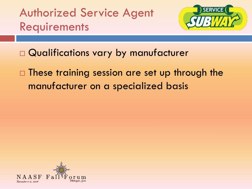 Authorized Service Agent