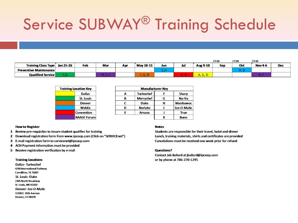 Service SUBWAY