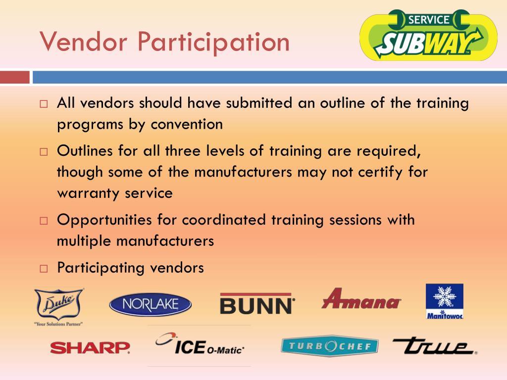 Vendor Participation