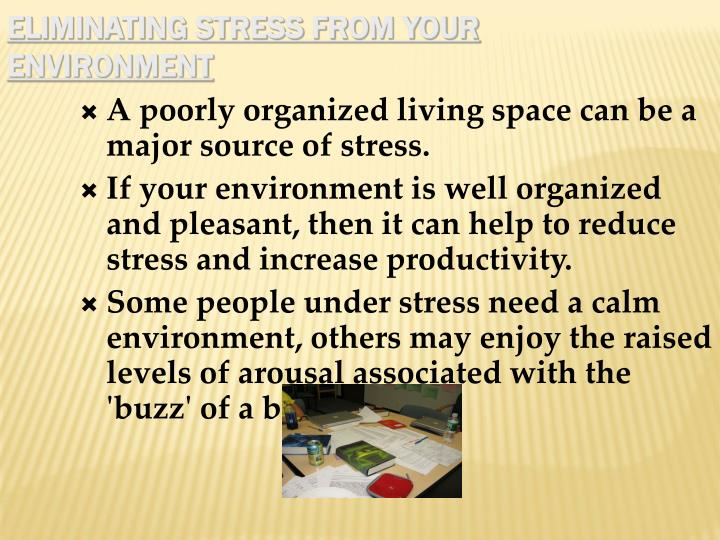 Eliminating Stress From Your Environment
