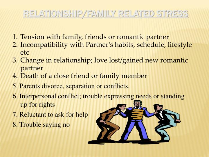 Relationship/Family Related Stress