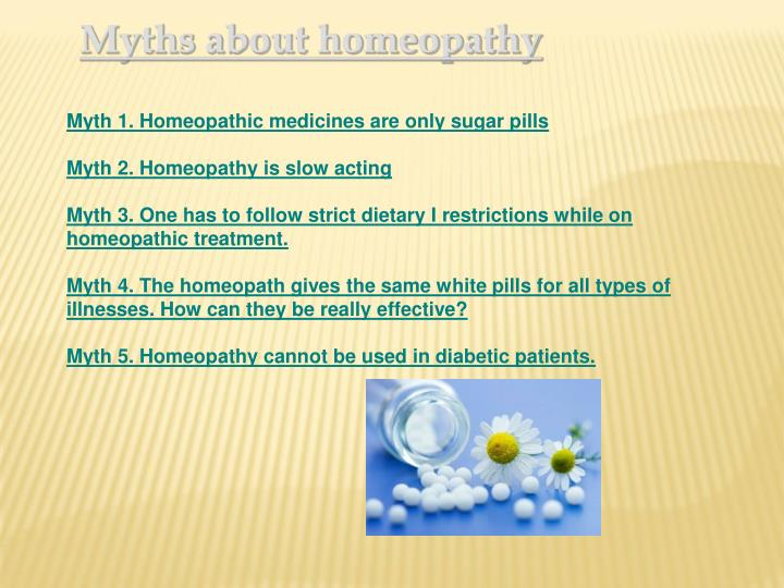 Myths about homeopathy