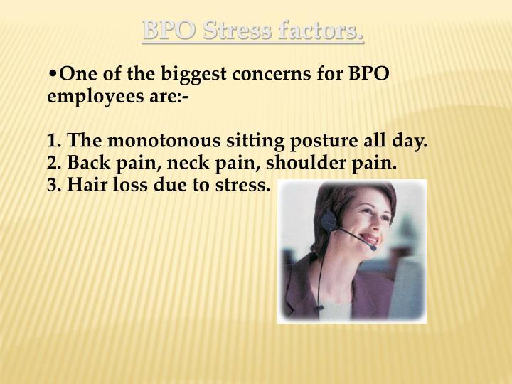 BPO Stress factors.