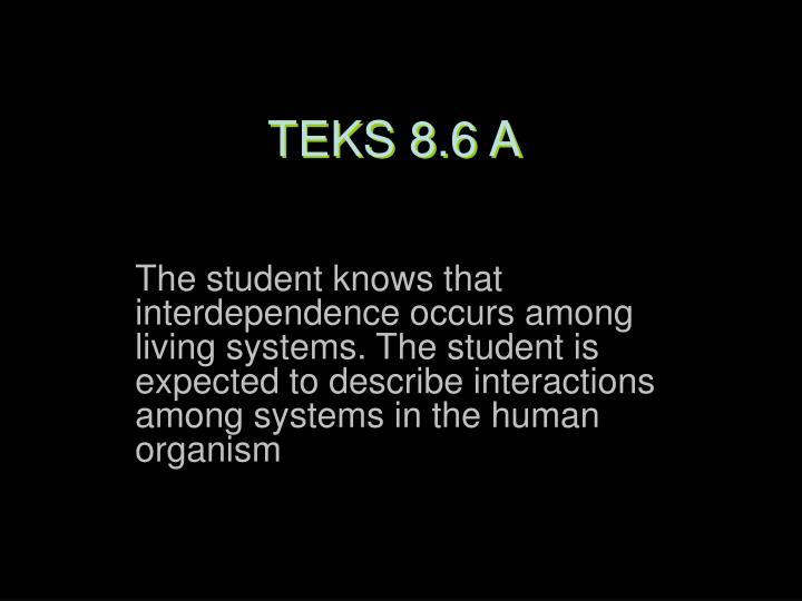 TEKS 8.6 A
