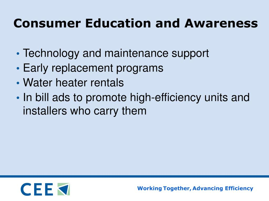 Consumer Education and Awareness