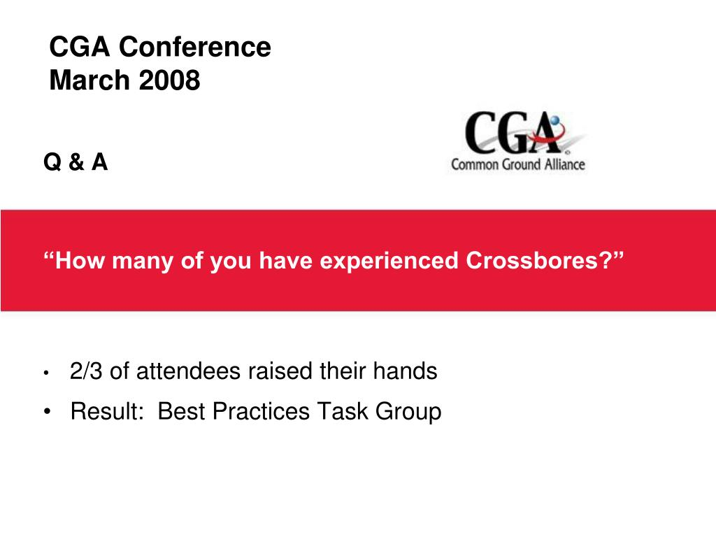 CGA Conference
