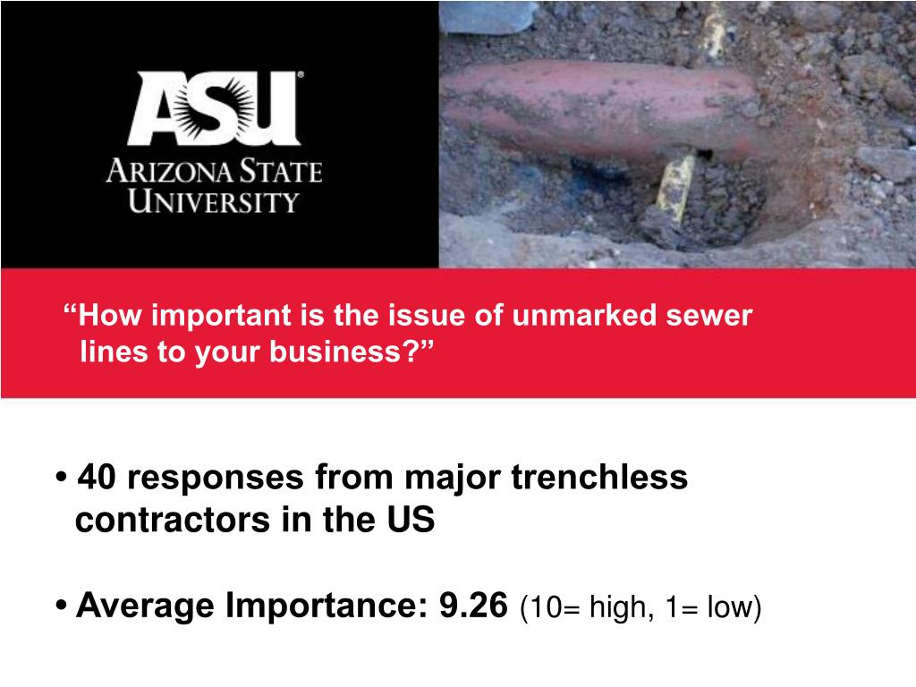 """How important is the issue of unmarked sewer"