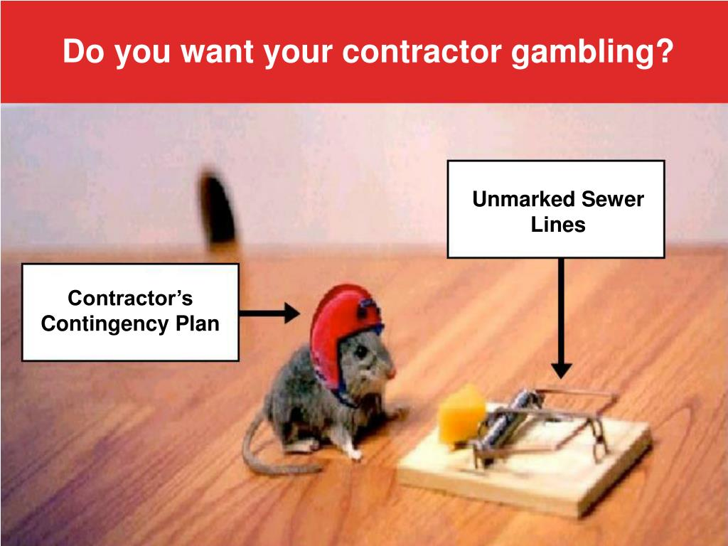 Do you want your contractor gambling?