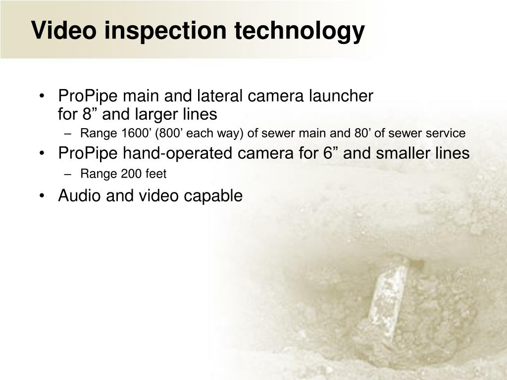 Video inspection technology