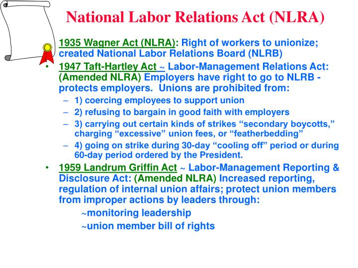 national labor relations act National labor relations board finds union supporter's profanity-laden rant unprotected by the national labor relations act by igor babichenko on may 26, 2017.