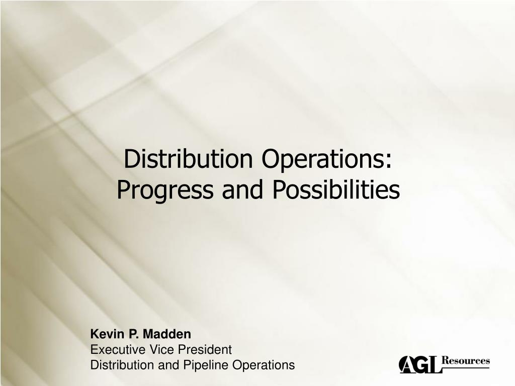 Distribution Operations: