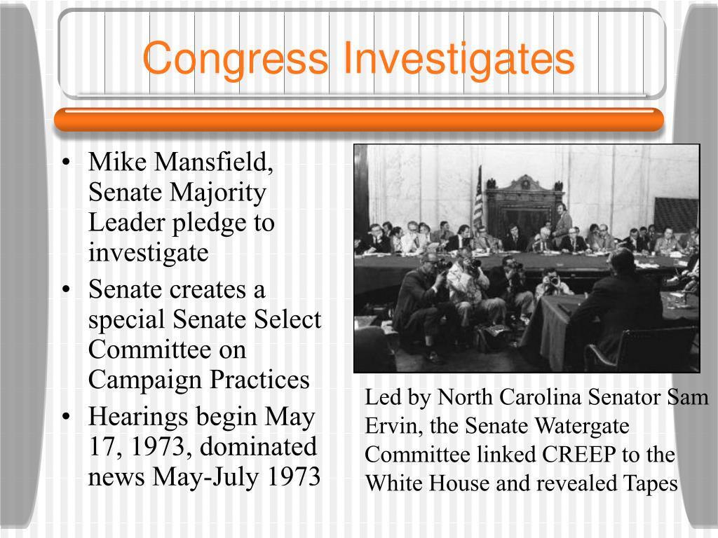 Congress Investigates