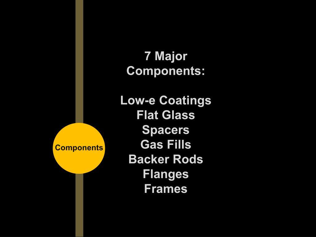 7 Major Components: