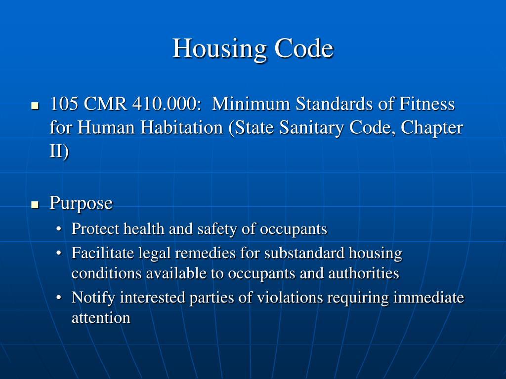 Housing Code