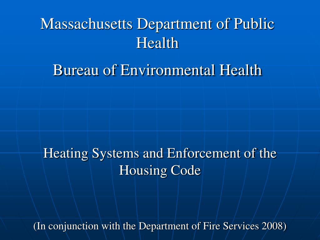 Massachusetts Department of Public Health