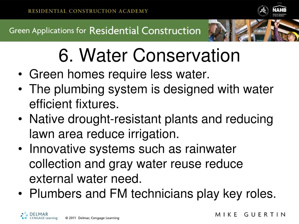 6. Water Conservation