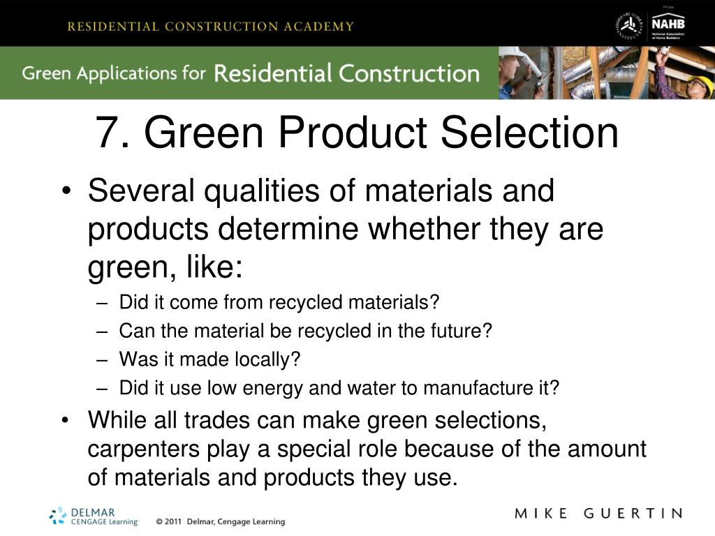7. Green Product Selection