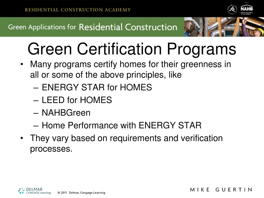 Green Certification Programs