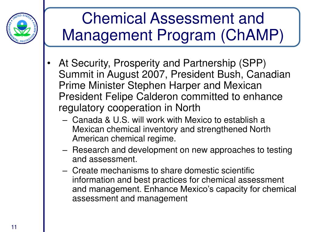 Chemical Assessment and Management Program (ChAMP)