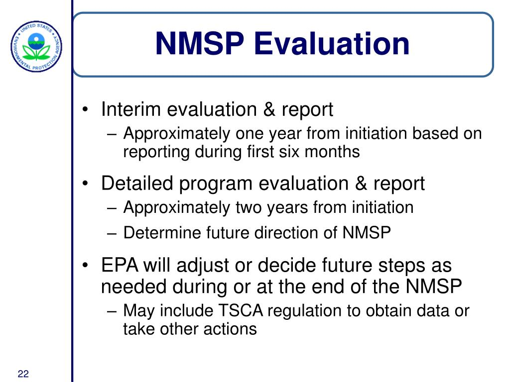 NMSP Evaluation